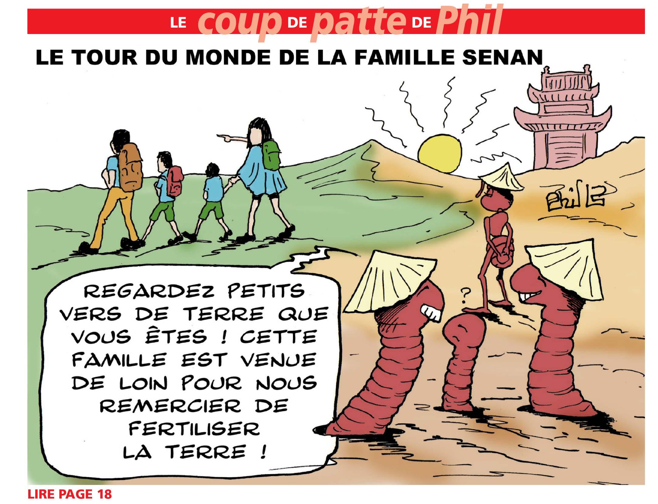 Le Tour du Monde de la famille SENAN par le journal La Gazette, Centre Morbihan