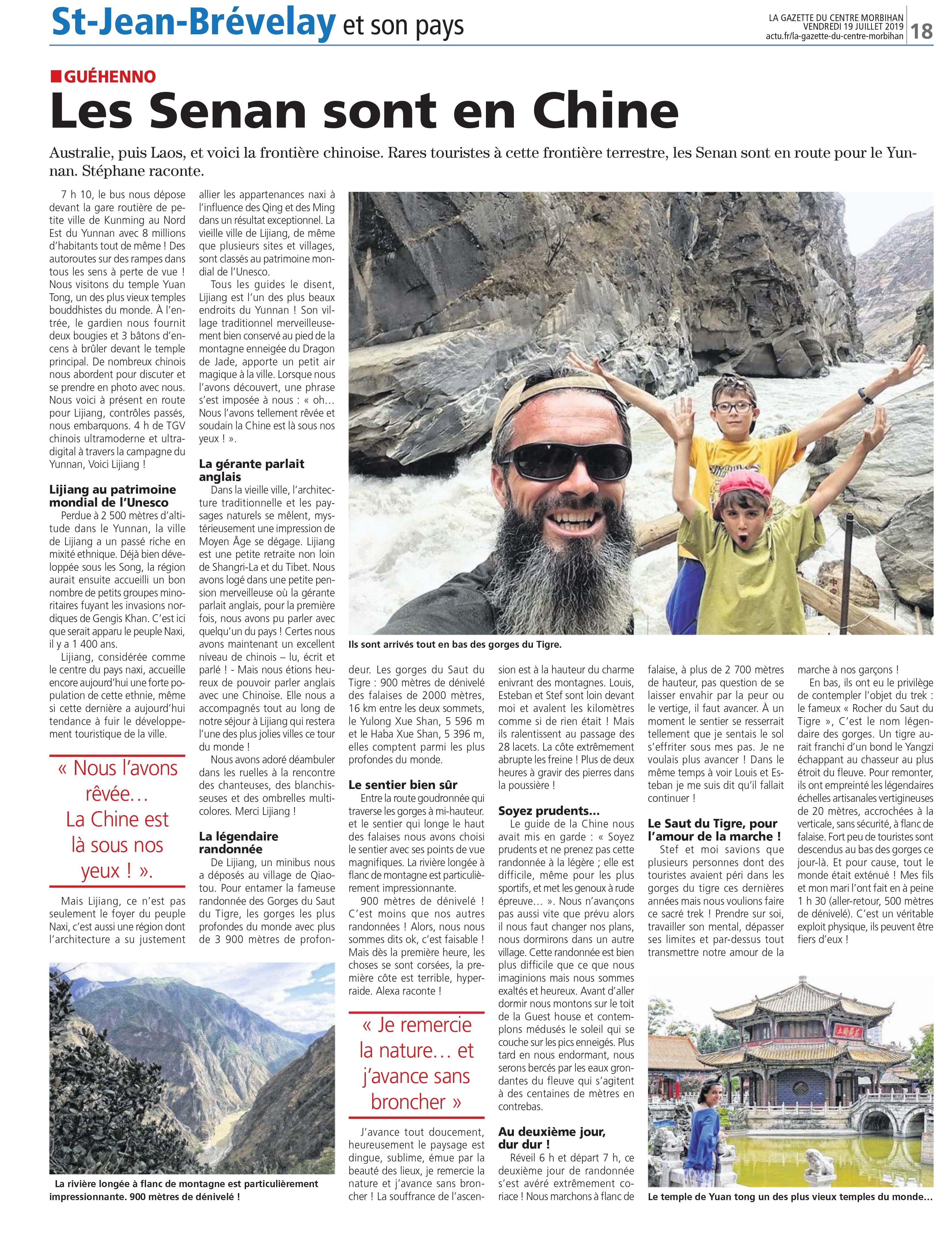 La Gazette Centre Morbihan : le rendez-vous mensuel des aventures de la Permaculture Family – la CHINE