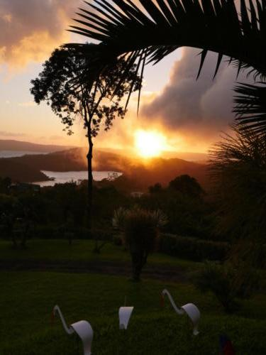Coucher soleil Lac Arenal