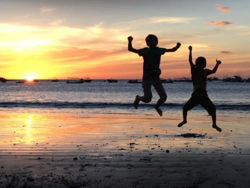 Coucher soleil Louis & Esteban
