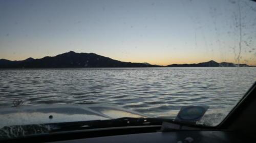 Coucher soleil encore en voiture