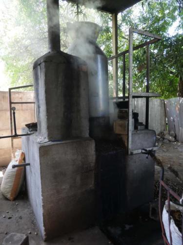 Cuisson des noix brutes à la vapeur