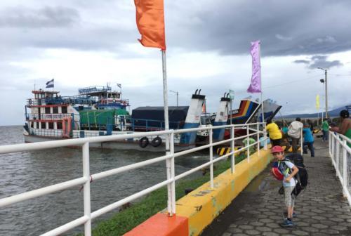 Départ Ometepe en Ferry