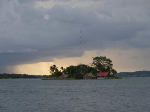 Depuis l'île de Flores, Guatemala
