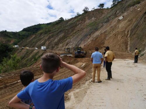 Eboulements entre Zamora et Loja