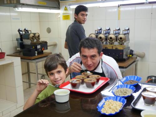 Esteban et Rodolfo, catador café
