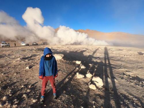 Esteban et les geysers
