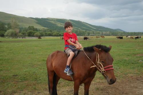 Esteban sur le cheval