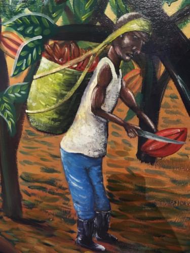 Fresque 2 Musée du Cacao, Antigua