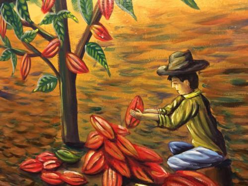 Fresque Musée du Cacao, Antigua