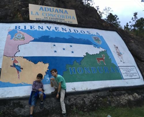 Frontière Entrée au Honduras
