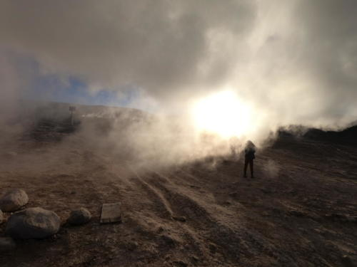 Fumée geysers