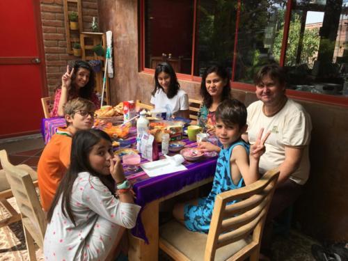 Avec la famille de Nicolas