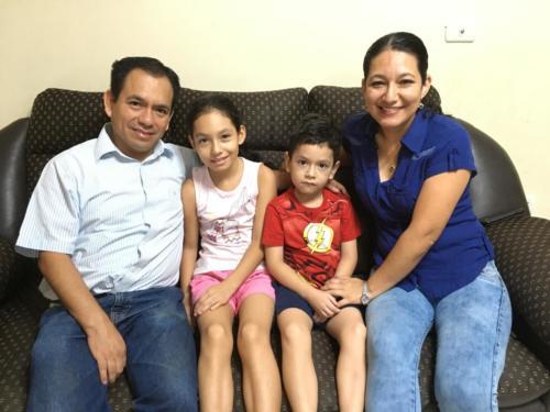 Javier et sa famille