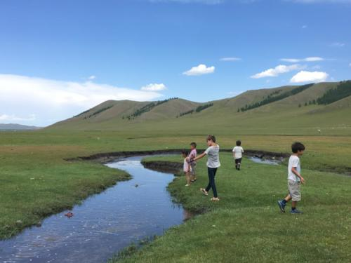Jeux autour de la rivière