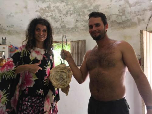 José Antonio, Alexa et l'estomac de porc pour la fabrication du fromage