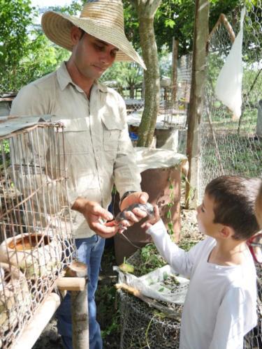 José Antonio, Esteban et les lapins