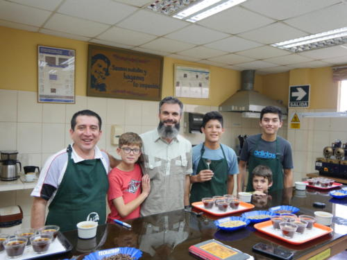 Laboratoire de dégustation de café