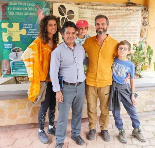 Le président de Majomut avec la Permaculture Family