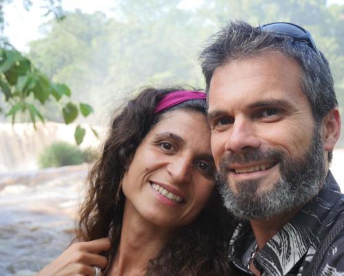 Les amoureux aux cascades d'Agua Azul, Chiapas