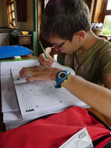 Louis et les devoirs