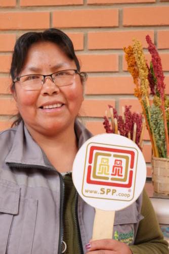Lurdes, productrice de quinoa Cecaot