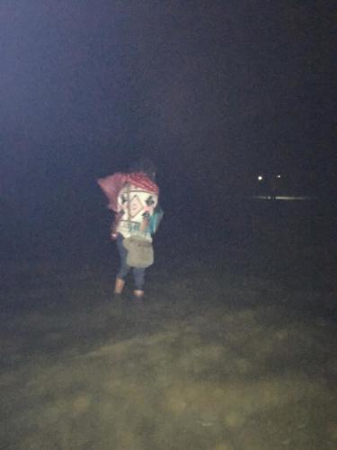 Marche de nuit dans l'eau glacée