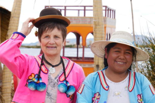 Marie Annick et notre hôte, îles Uros