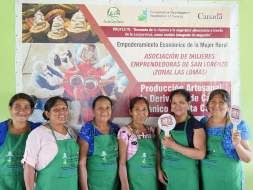 Productrices de cacao et chocolat Norandino