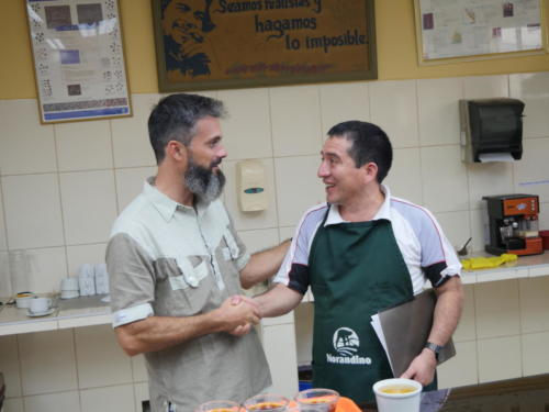 Stépane et Rodolfo, catadores de café