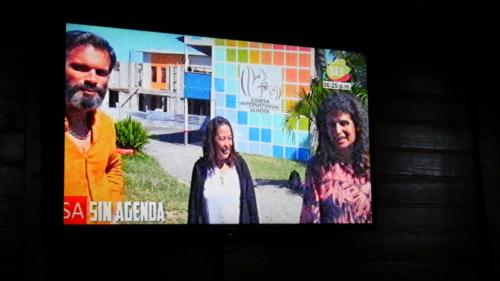 Stéphane, la recteur et Alexa à la TV Marcala