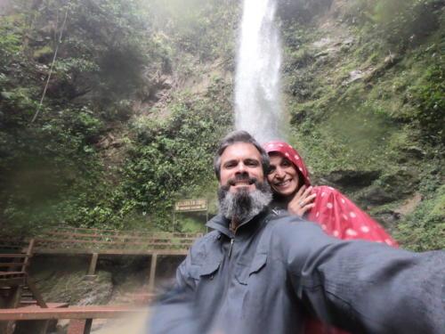 Stéphane et Alexa à la cascade