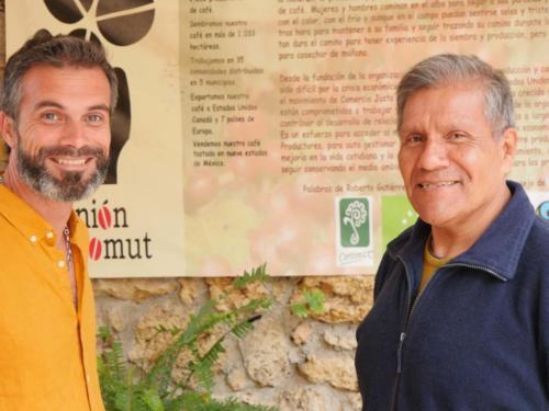 Stéphane et Fernando, coordinateur Majomut