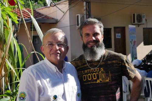 Stéphane et Luis le président Manduvira