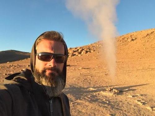 Stéphane et le geyser