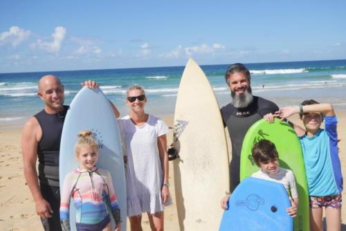 Surf Party en famille