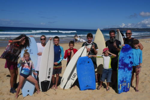 Surfing in family