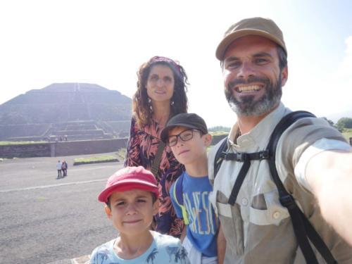 Teotihuacan en famille1