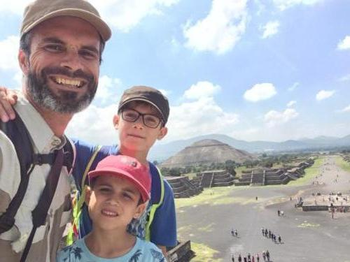 Teotihuacan en famille2